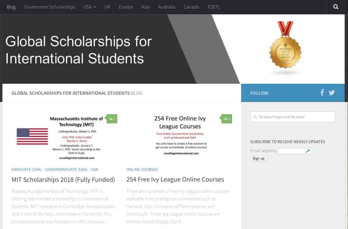 Elementary Scholarships For International Students In Usa