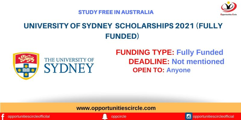 University Of Sydney Scholarships For International Students 2021
